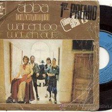 Discos de vinilo: SINGLE 45 RPM / BJORN,BENNY ,ANNA& FRIDA (ABBA) EUROVISON / WATERLOO // EDITADO CARNABY ESPAÑA . Lote 31272910
