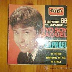Dischi in vinile: RAPHAEL. YO SOY AQUEL. FESTIVAL EUROVISION 1966. EP. EDICION FRANCESA 1966. IMPECABLE. Lote 31277233