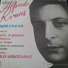 Discos de vinilo: ALFREDO KRAUS - ROMANZAS VOL.3 - BLACK EL PAYASO - EP. Lote 31289365