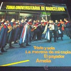 Discos de vinilo: TUNA UNIVERSITARIA DE BARCELONA - TRISTE Y SOLA - EP. Lote 31297659