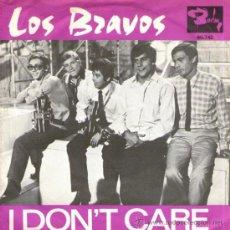 Discos de vinilo: LOS BRAVOS - SINGLE VINILO 7' - EDITADO EN FRANCIA - I DON'T CARE + DON'T BE LEFT OUT IN THE COLD.. Lote 31310209
