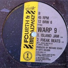 Discos de vinilo: WARP 9 - NO MAN IS AN ISLAND - REMIX . MAXI SINGLE . 1983 FOURTH & BROADWAY UK. Lote 31326283