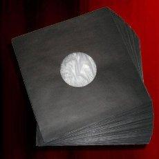 Discos de vinilo: 25 FUNDAS INTERIORES NEGRAS DE PAPEL + ANTIESTATICO PARA VINILOS LP Y MAXI -ALTA CALIDAD-. Lote 214150693