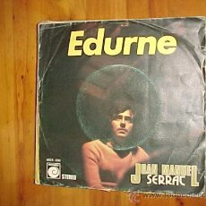 Discos de vinilo: JOAN MANUEL SERRAT. EDURNE/ DECIR AMIGO. ZAFIRO 1974. VINILO IMPECABLE. Lote 31332010