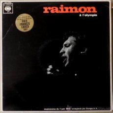 Discos de vinilo: RAIMON A L'OLYMPIA (LP) 1967 - EDICION FRANCESA - CANÇÓ CATALANA. Lote 31335213