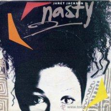 Discos de vinilo: JANET JACKSON / NASTY / YOU'LL NEVER FIND (SINGLE 1986). Lote 31345002