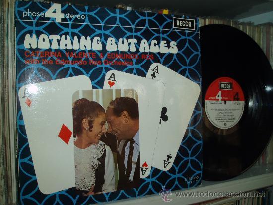 Usado, CATERINA VALENTE & EDMUNDO ROS LP NOTHING BUT ACES IN SPANISH SPAIN segunda mano