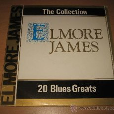 Discos de vinilo: LP ELMORE JAMES 20 BLUES GREATS .DEJAVU 1987 ITALY. Lote 31365491