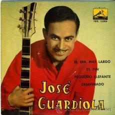 Discos de vinilo: DISCO DE VINILO - JOSE GUARDIOLA - 45 R.P.M. - AÑO 1963. Lote 31374843