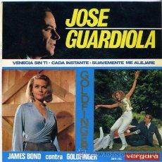 Discos de vinilo: DISCO DE VINILO - JOSE GUARDIOLA - VERGARA - AÑO 1965 - TEMA CENTRAL:JAMES BOND CONTRA GOLDFINGER. Lote 31374965