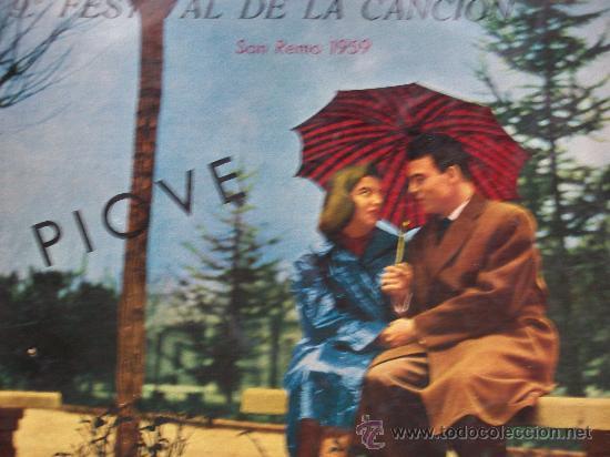 9º FESTIVAL DE LA CANCION,SAN REMO 1959(VARIOS) VINILO DE 10 PULGADAS (Música - Discos - LP Vinilo - Otros Festivales de la Canción)