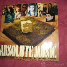 Discos de vinilo: VARIOUS – ABSOLUTE MUSIC 9 LP DOBLE COMPILATION 24 TOP MORIGINAL EVA RECORDS (SWEDEN) – 303 821. Lote 31388947