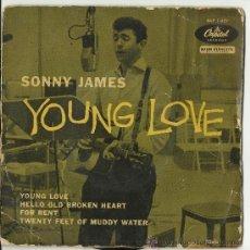 Discos de vinilo: SANNY JAMES.YOUNG LOVE.4 CANCIONESAÑOS 60. Lote 31397714