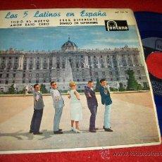 """Discos de vinilo: LOS CINCO LATINOS TODO ES NUEVO / ERES DIFERENTE ..+2 7"""" EP 1960 FONTANA VINILO AZUL EN ESPAÑA. Lote 31403741"""