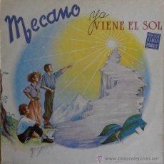Discos de vinilo: MECANO - YA VIENE EL SOL (INCLUYE LA CANCION: HAWAII BOMBAY) 1984 (LP). Lote 31408046