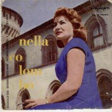 Discos de vinilo: NELLA COLOMBO - BOCCUCCIA DI ROSA + 3 - EP SPAIN 1959 VG+ / VG+. Lote 31419030