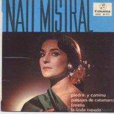 Discos de vinilo: NATI MISTRAL,PIEDRA Y CAMINO DEL 65. Lote 31444057