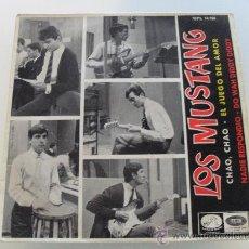 Discos de vinilo: LOS MUSTANG - CHAO , CHAO + 3 EP 1965. Lote 31559324