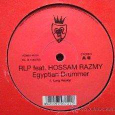 Discos de vinilo: RLP FEAT. HOSSAM RAZMY - EGYPTIAN DRUMMER - MAXI SINGLE 2 TEMAS. Lote 31515364