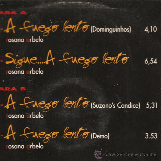 Discos de vinilo: MAXI ROSANA - A FUEGO LENTO - Foto 2 - 31984611