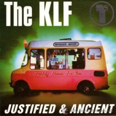 Discos de vinilo: THE KLF ··· JUSTIFIED AND ANCIENT (STAND BY THE JAMS) / JUSTIFIED AND ANCIENT (THE.. - (SINGLE 45 R). Lote 60040850