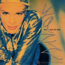Discos de vinilo: YAZZ ··· TREAT ME GOOD / I WANT YOUR LOVE - (SINGLE 45 RPM) - NUEVO. Lote 31557703