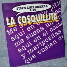 Discos de vinilo: JUAN LUIS GUERRA - MAXI VINILO 12'' - LA COSQUILLITA + 1 - EDITADO ESPAÑA 1994 + REGALO CD SINGLE. Lote 31567114