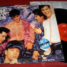 Discos de vinilo: NEW KIDS ON THE BLOCK STEP BY STEP LP 1990 CBS ED ESPAÑOLA. Lote 31574593