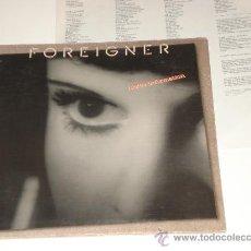 Discos de vinilo: FOREIGNER / INSIDE INFORMATION - LP USA 1987 DOBLE PORTADA CON LETRAS! TOTALMENTE NUEVO A ESTRENAR!!. Lote 31574848