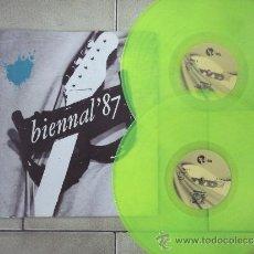 Discos de vinilo: BIENNAL´87 V/A MOVIDA 80S DOBLE LP VINILO VERDE @ AFTER PUNK POP GOTIC SYNTH @. Lote 31577287