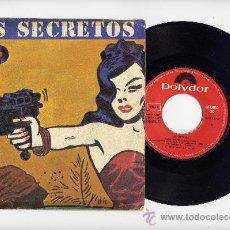 Discos de vinilo: LOS SECRETOS. 45 RPM. NO ME IMAGINO+IDEM INSTRUMENTAL. MOVIDA.POLYDOR AÑO 1983. Lote 31578322