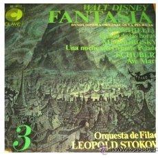 Discos de vinilo: WALT DISNEY FANTASIA LP 1968 BANDA SONORA ORIGINAL VOL 3 SPA. Lote 31587234