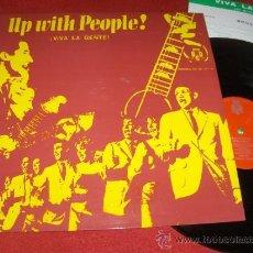 Discos de vinilo: UP WITH PEOPLE VIVA LA GENTE LP 1969 BCD ED ESPAÑOLA + PROGRAMA 1-5 AGOSTO 1970. Lote 31619168
