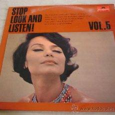 Discos de vinilo: STOP LOOK AND LISTEN, VOL. 5.. Lote 31621894