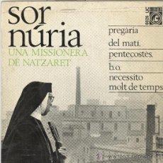 Discos de vinilo: SOR NURIA. CONCENTRIC 1966. EP. Lote 31631645