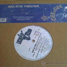Discos de vinilo: GEE & GEE - DREAMS FOR EVER - MAXI SINGLE. Lote 31634020