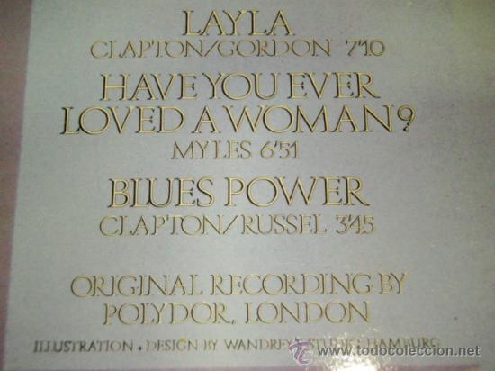 Discos de vinilo: ERIC CLAPTON ( THE BEST OF ERIC CLAPTON ) 1970 - GERMANY LP33 KARUSSELL - Foto 4 - 31655113