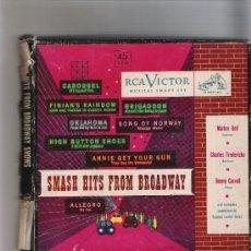 Discos de vinilo: SMASH HITS FROM BROADWAY - RCA VICTOR - ESTUCHE CON 5 SINGELS. Lote 31671445