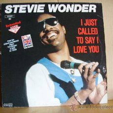 Discos de vinilo: STEVIE WONDER --- I JUST CALLED TO SAY I LOVE YOU - MAXI. Lote 31676266