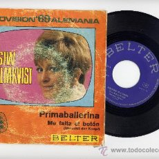 Discos de vinilo: SIW MALMKVIST. 45 RPM. PRIMA BALLERINA+ME FALTA UN BOTON. BELTER 1969. Lote 31680634