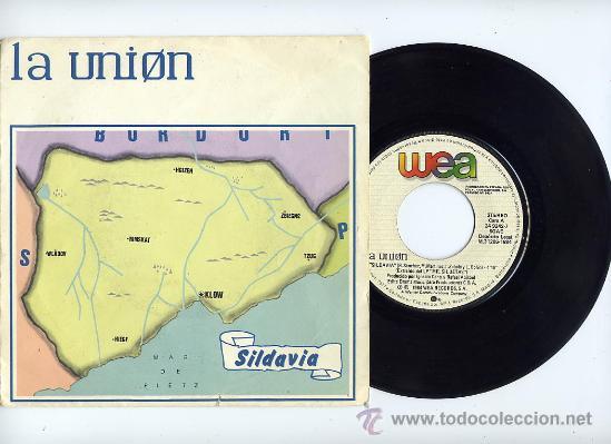 LA UNION. 45 RPM. SILDAVIA+LOBO-HOMBRE EN PARIS(PARTY-MIX). WEA AÑO 1984 (Música - Discos - Singles Vinilo - Grupos Españoles de los 70 y 80)