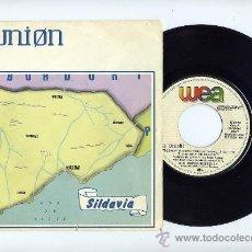 Discos de vinilo: LA UNION. 45 RPM. SILDAVIA+LOBO-HOMBRE EN PARIS(PARTY-MIX). WEA AÑO 1984. Lote 31680910