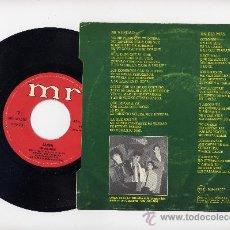Discos de vinilo: LUNA.45 RPM. MI VERDAD+UN DIA MAS. MR DISCOS AÑO 1983. Lote 109306466