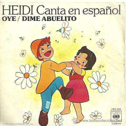 HEIDI EN ESPAÑOL SINGLE SELLO CBS AÑO 1975 (Música - Discos - Singles Vinilo - Música Infantil)