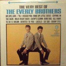 Discos de vinilo: THE EVERLY BROTHERS, VERY BEST, ORIGINAL DE USA, LAVEL DORADO. Lote 31705842