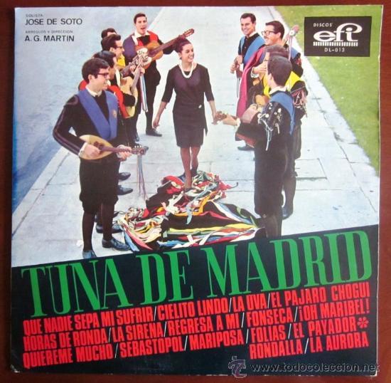 TUNA DE MADRID (SOLISTA: JOSÉ DE SOTO) - EDITADO EN VENEZUELA (Música - Discos - LP Vinilo - Otros estilos)