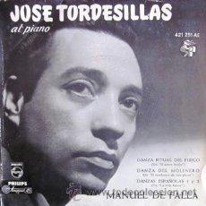 Discos de vinilo: JOSÉ TORDESILLAS - MANUEL DE FALLA - 1963. Lote 31721569
