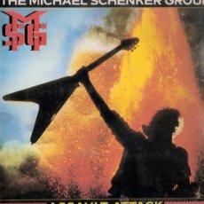 Discos de vinilo: THE MICHAEL SCHENKER GROUP - ASSAULT ATTACK (LP) EDIC.ESPAÑOLA DE 1982 - VG++/VG++. Lote 31734490