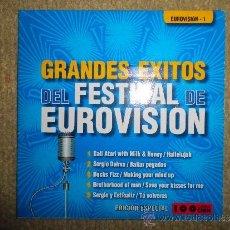 Discos de vinilo: GRANDES EXITOS DEL FESTIVAL DE EUROVISION CD SINGLE PROMO EDICION ESPECIAL CADENA 100 5 TEMAS 2002. Lote 50974738
