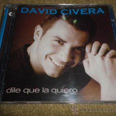 Discos de vinilo: DAVID CIVERA DILE QUE LA QUIERO CD ALBUM TEMA DEL FESTIVAL DE EUROVISION 2001 REMIX 13 TEMAS. Lote 138656353